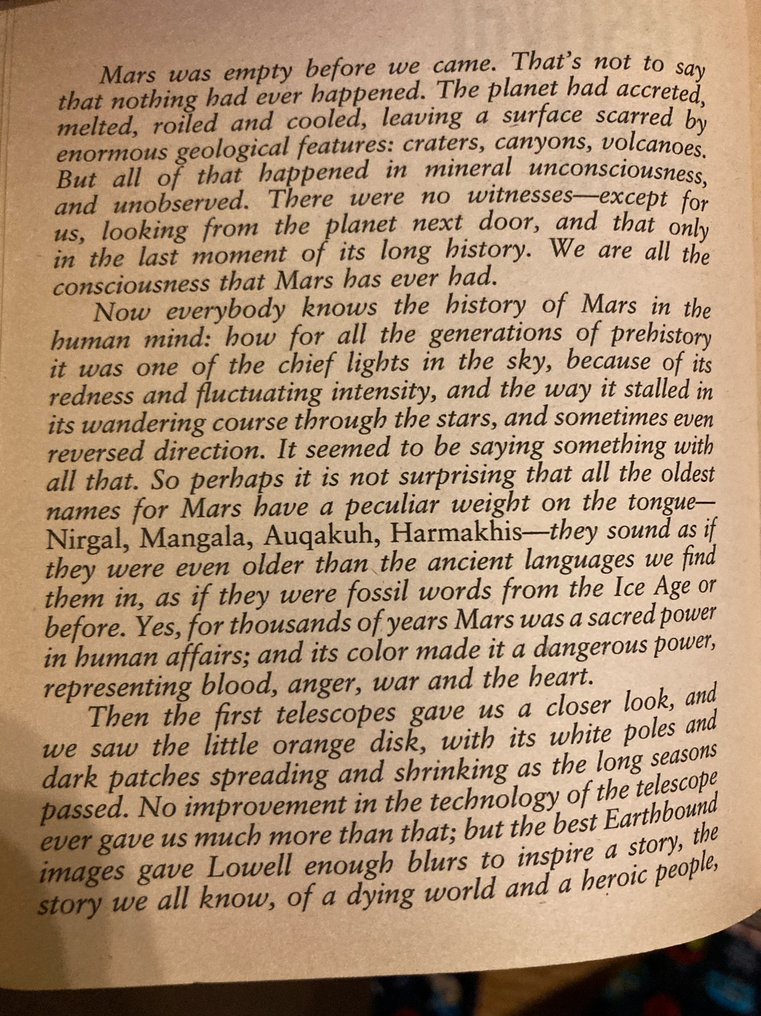 Red Mars page