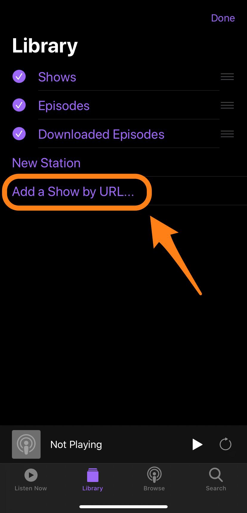 add show by url