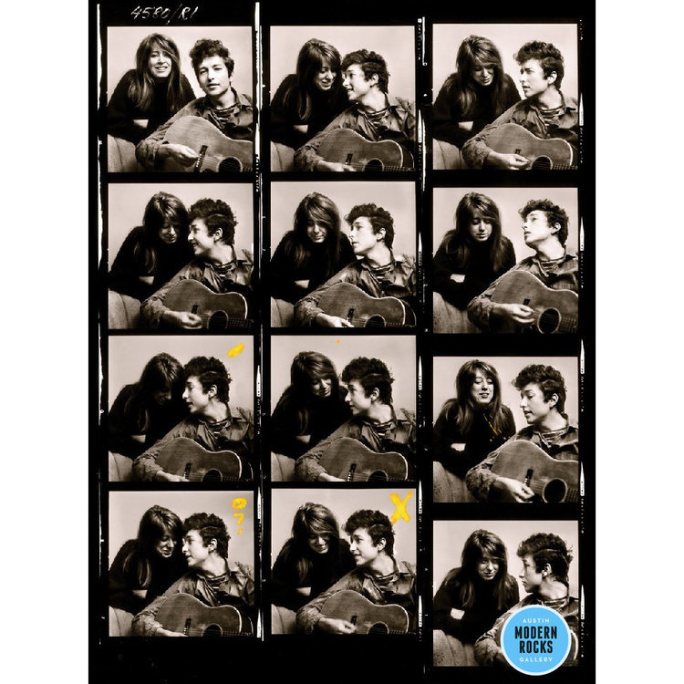Bob Dylan 1963 photo contact sheet by Don Hunstein