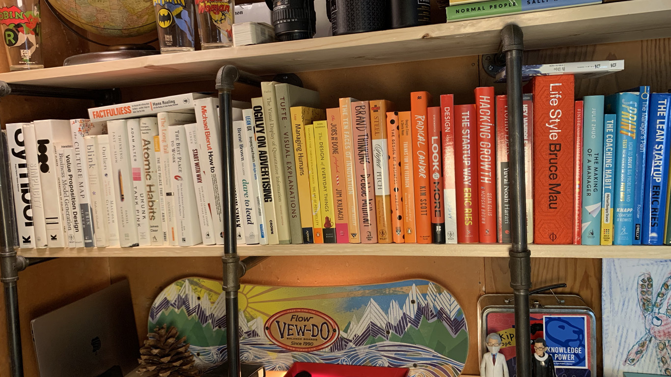 workspace-color-coded-books