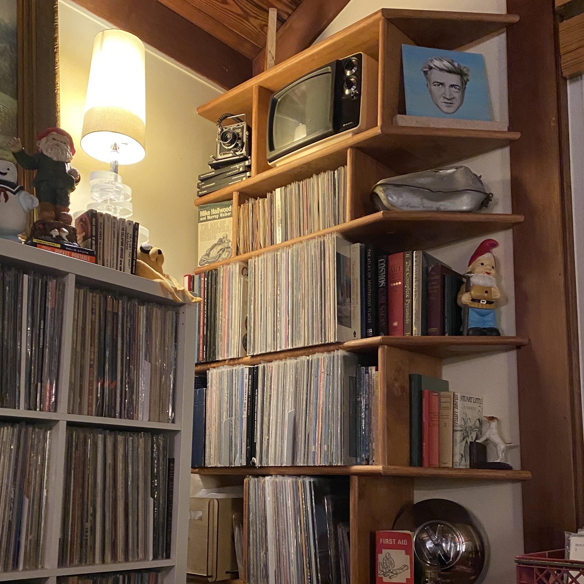 Piper's record shelves