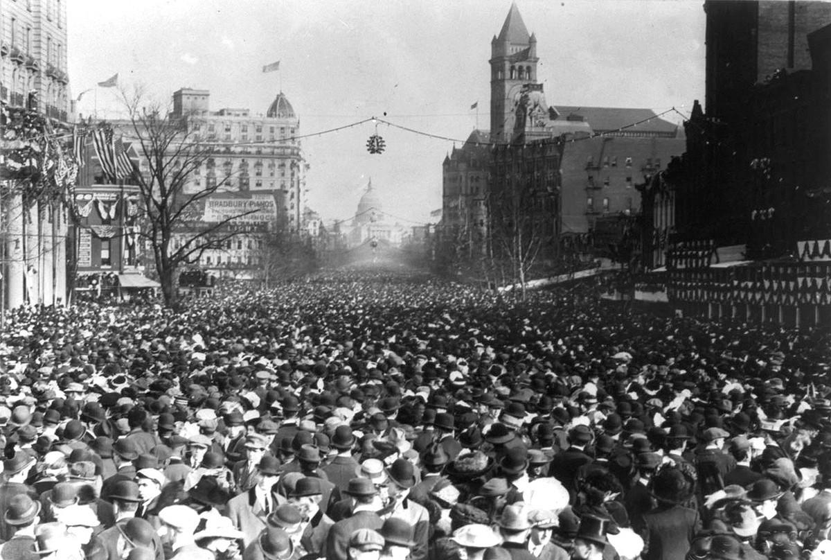 Woman Suffrage Procession breaks down