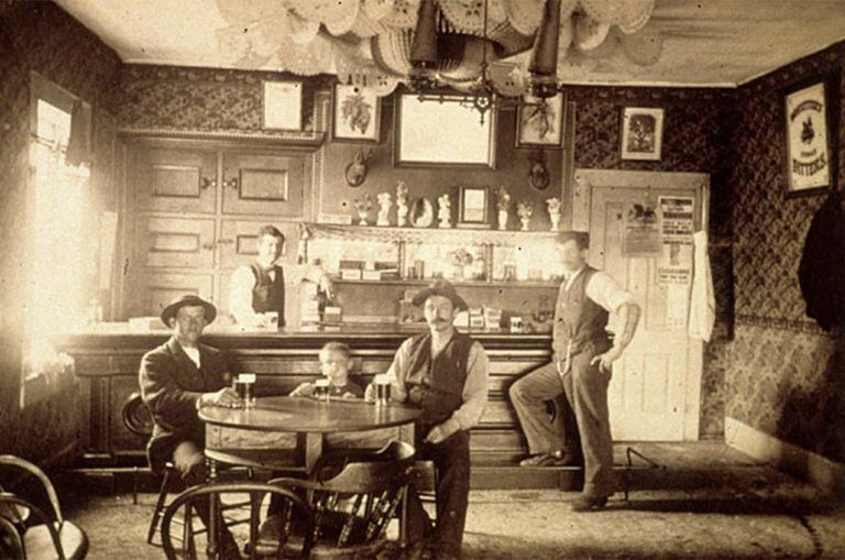 Saloon in Wisconsin around 1900