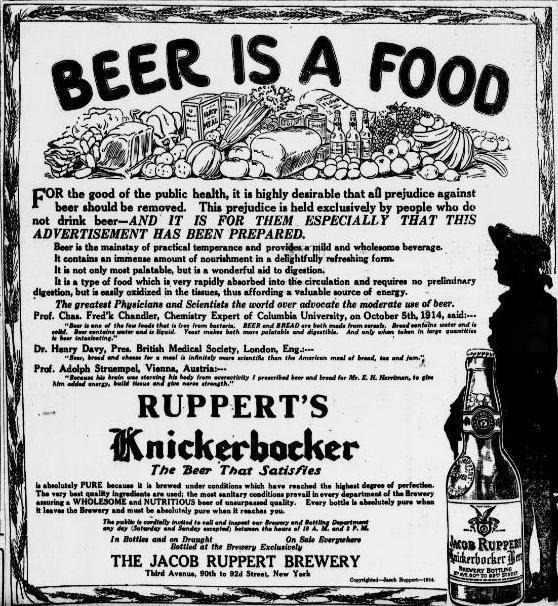 Beer is Food Ad