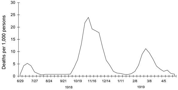 The multiple waves of the Spanish Flu