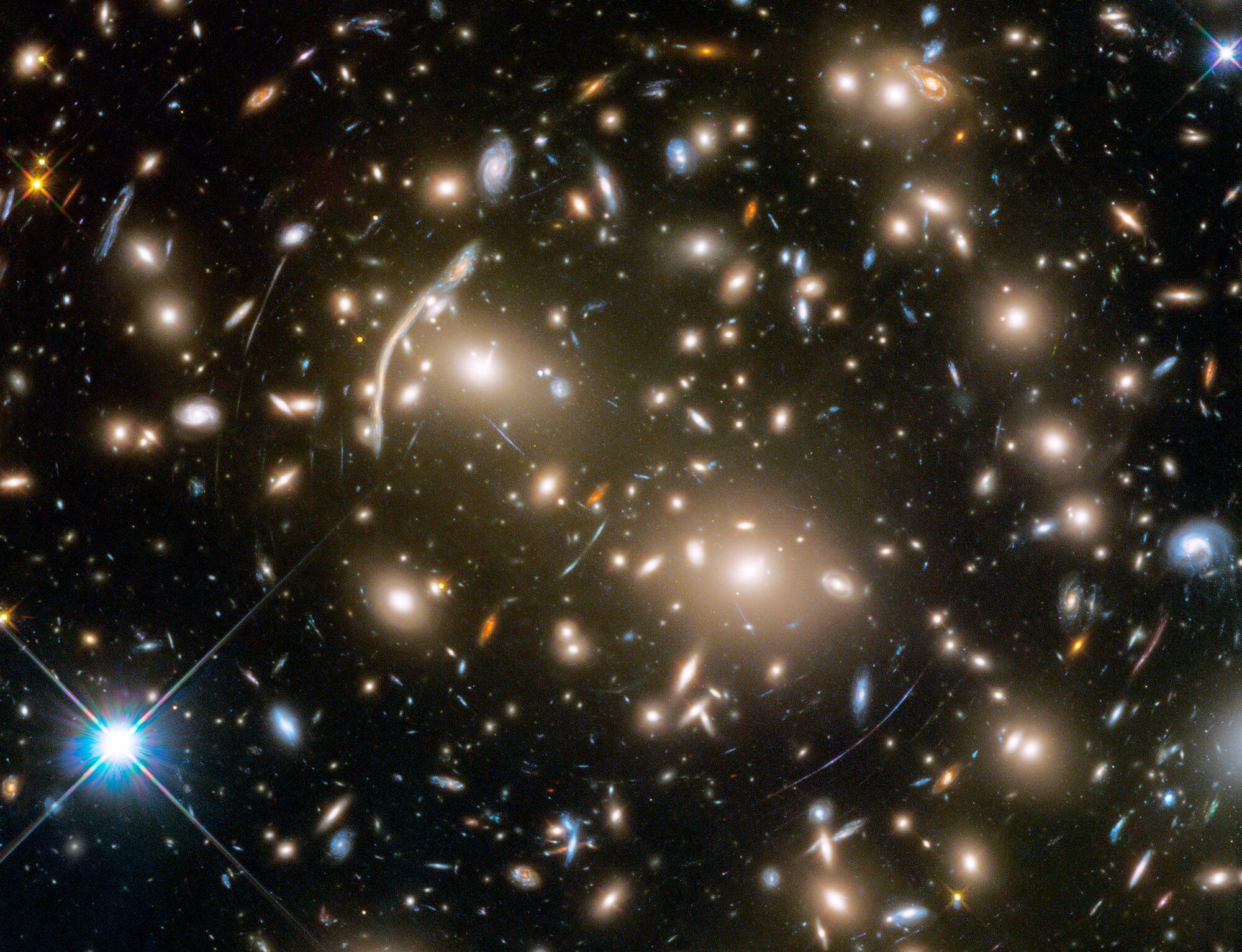 Examples of gravitational lensing