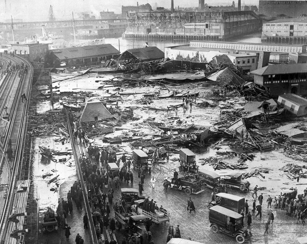 Damage from the Molasses Flood