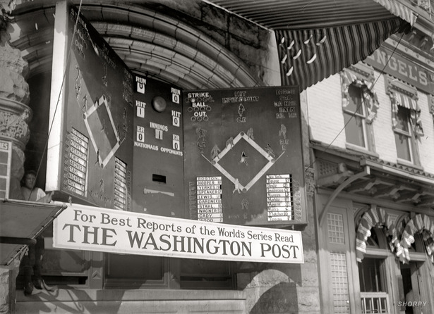 Scoreboard 1912 World Series
