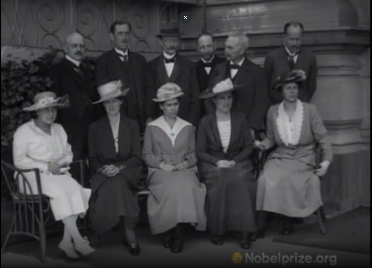 Nobel winners and their wives