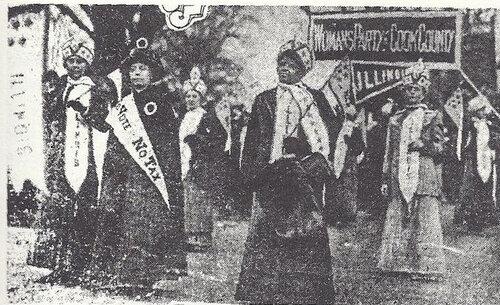 Ida B. Wells-Barnett marches in Suffrage Procession
