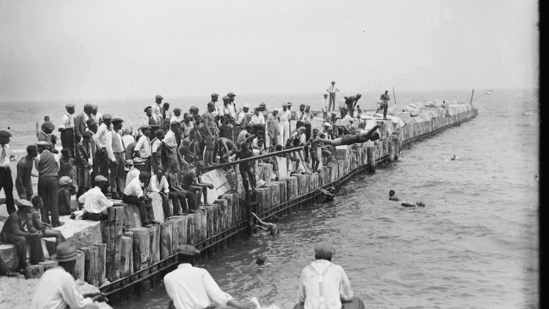 African American beach in Chicago
