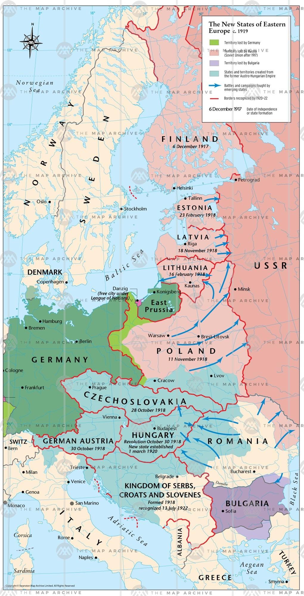Eastern Europe in 1919