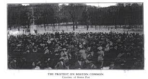 Birth of a Nation Protests Boston Common