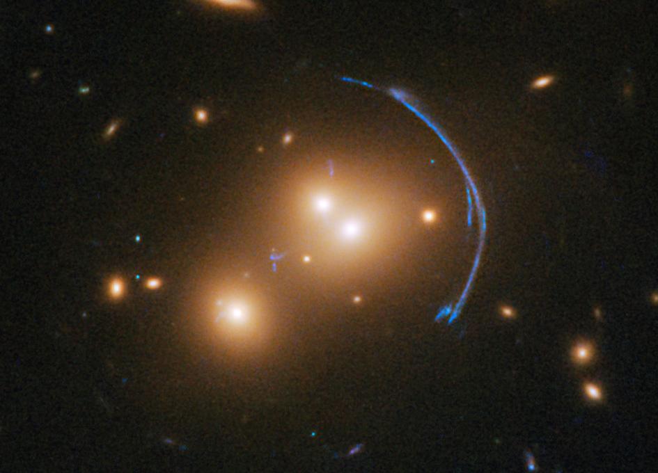 Example of gravitational lensing