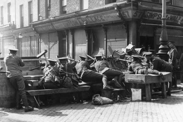 British troops at Easter Rising